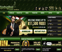 Screenshot of Springbok Casino