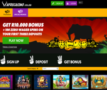 Claim your Bonus and Free Spins at AfriCasino