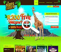 Get R200.00 Free at Slots Garden South Africa