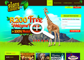 Click Here to Claim R200.00 Free at Slots Garden South Africa