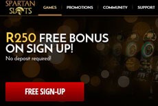 Spartan Slots - South African Casino - Get R250.00 Free