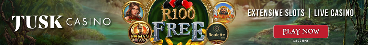 New South African Casino - Tusk - Get R100 Free